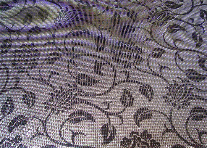 Silkscreen Type Metallic Mesh Fabric Aluminum Material For Room Dividers